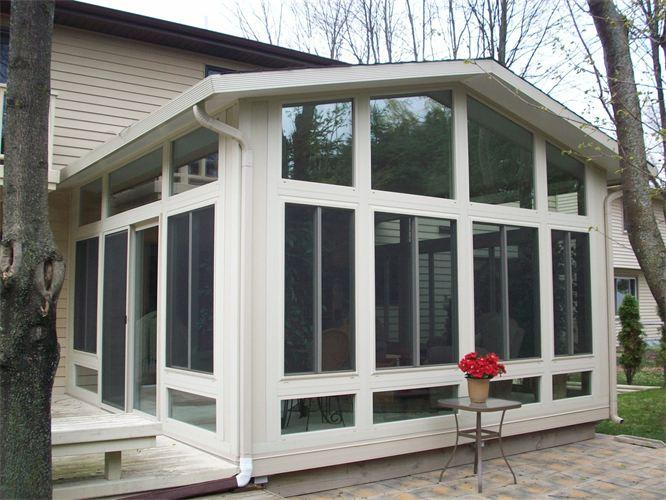 All glass gable sunroom sunroom factory for Home sunrooms