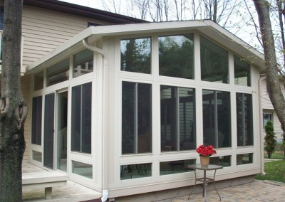 All-Glass Gable Sunroom