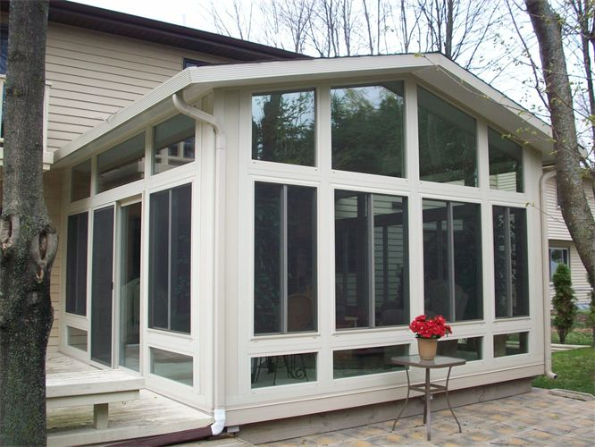 All glass, gable style 4 season room