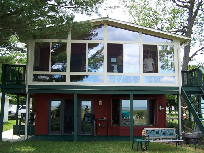 2-Story All-Glass Gable Style Sunroom in Northern Michigan
