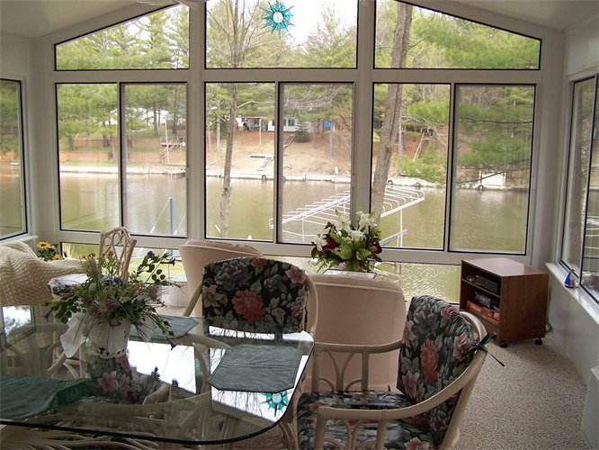 Interior of All-Glass Gable Style Sunroom in Northern Michigan