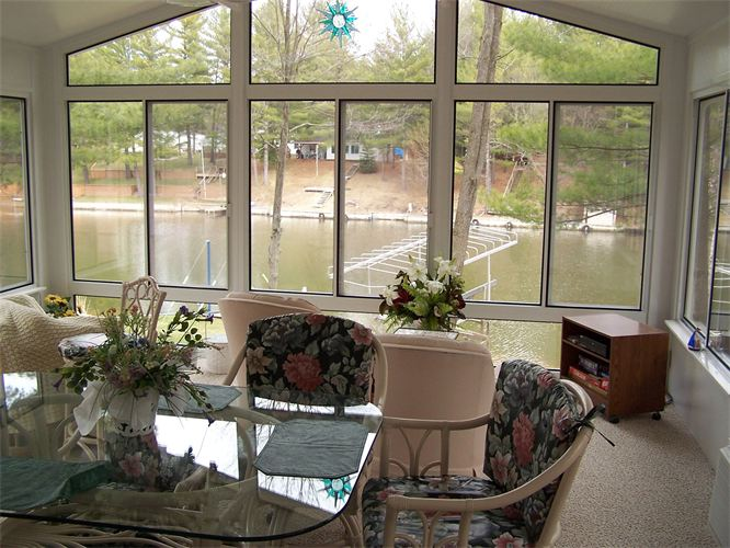 Interior of Gable Style Sunroom in Northern Michigan