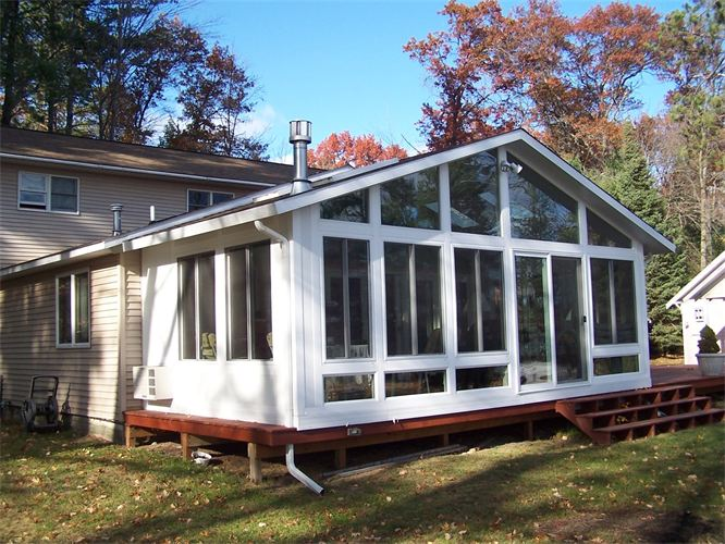 All-Glass Fill Gable Style Sunroom in Northern Michigan