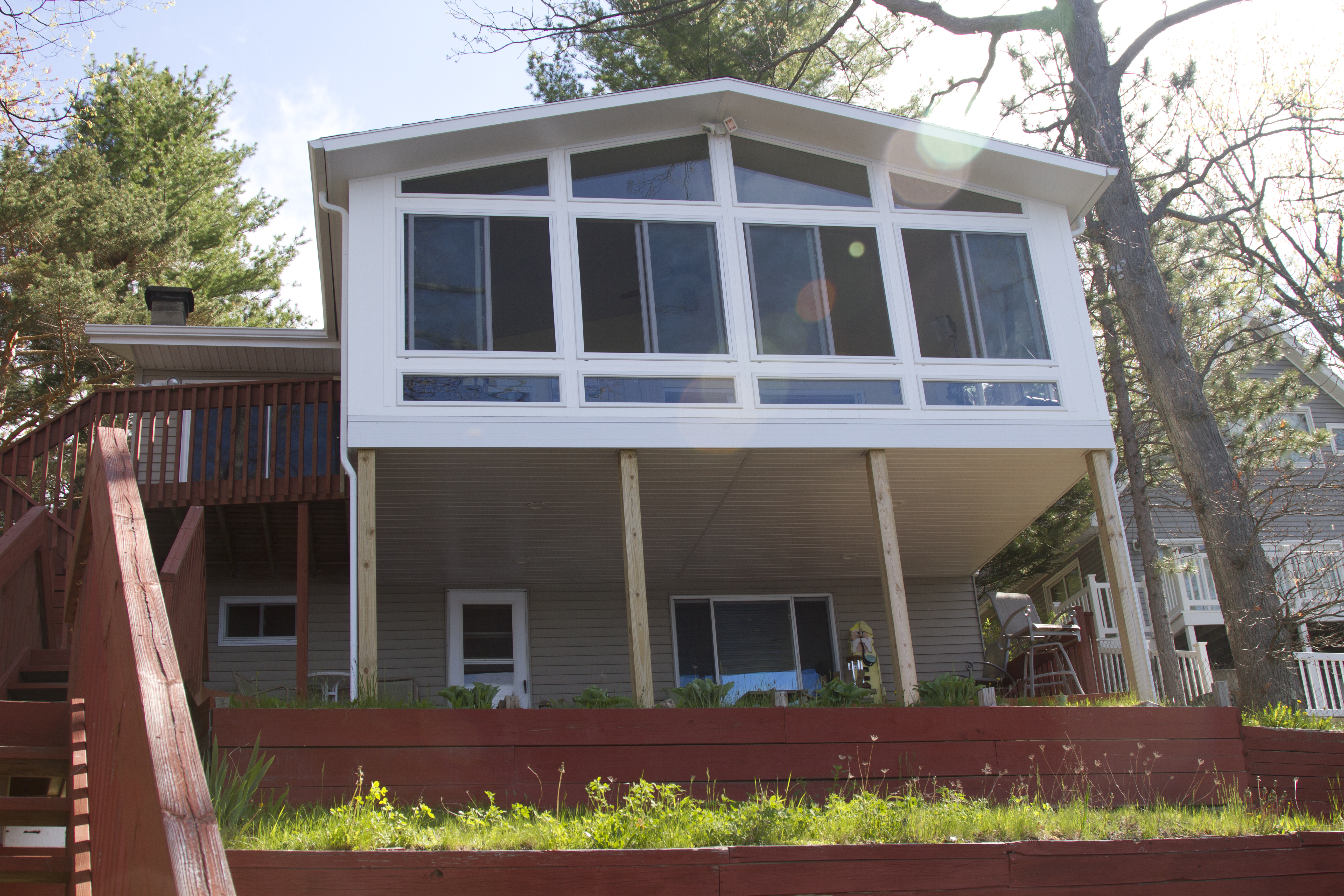 2-Story Reverse Gable Style 4 Season Sunroom in Northern Michigan