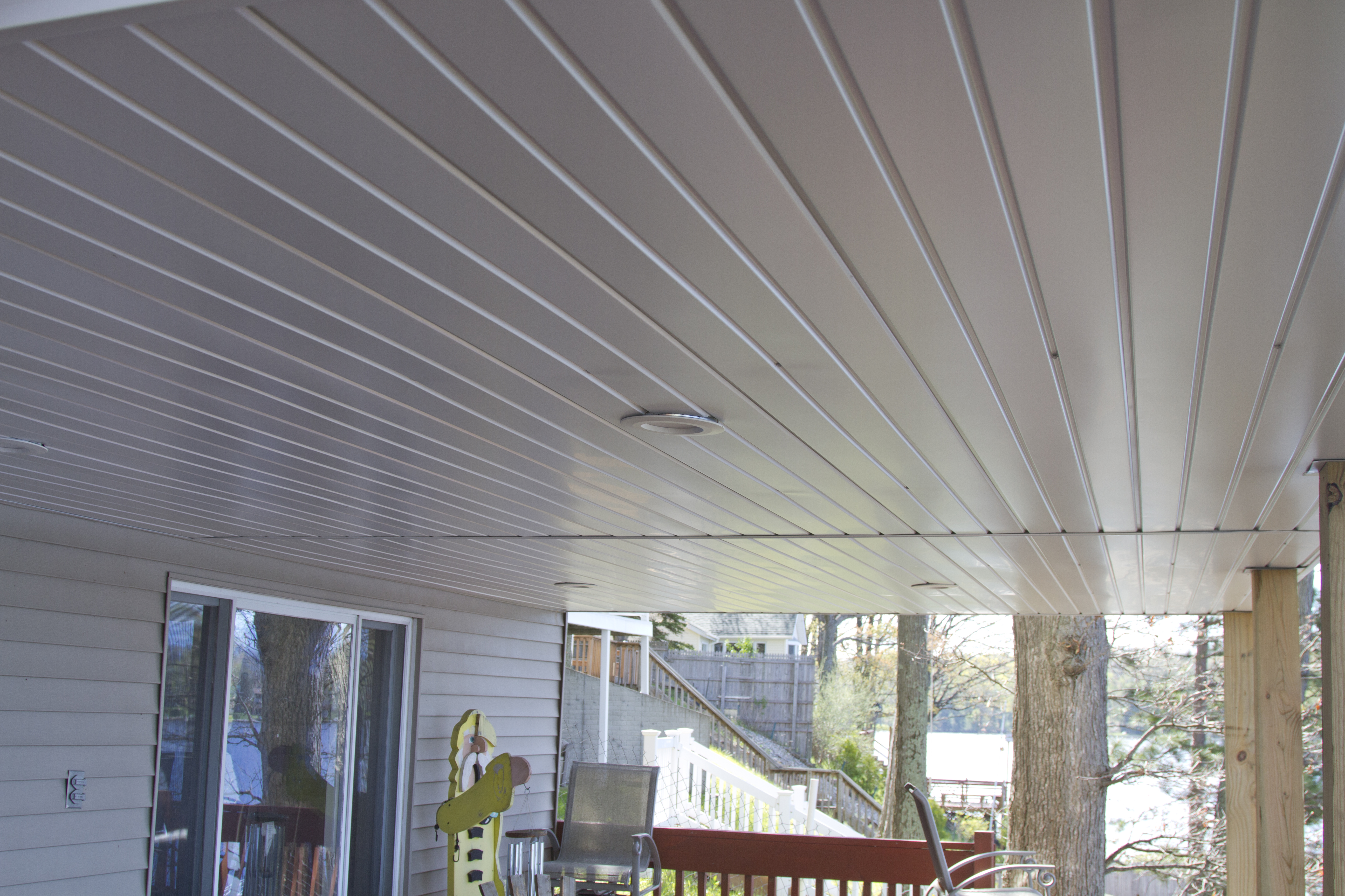 Interior of Reverse Gable Style 4 Season Sunroom in Northern Michigan