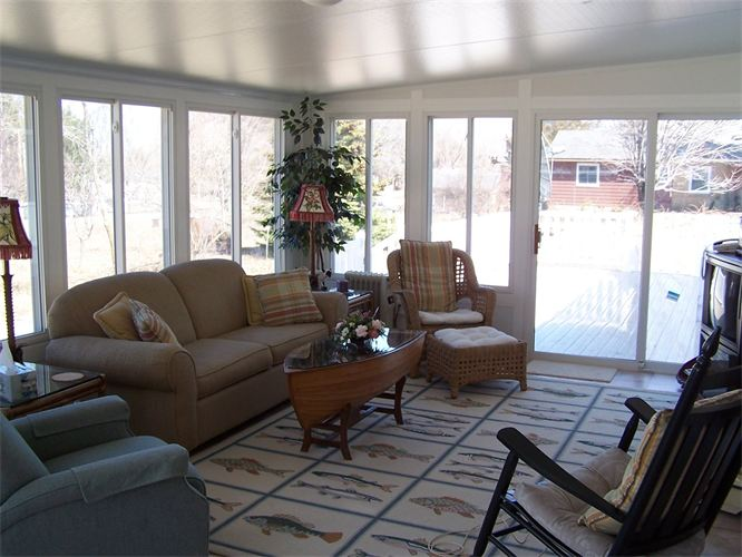 Interior Studio Style Sunroom in Northern Michigan